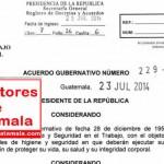 Consultoria, capacitacion, auditoria e  implementacion reglamento de salud y seguridad ocupacional mintrab Guatemala  33-2016 y 229-2014